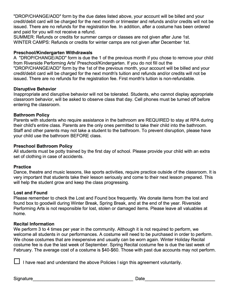 WAIVER OF LIABILITY POLICIES pg4