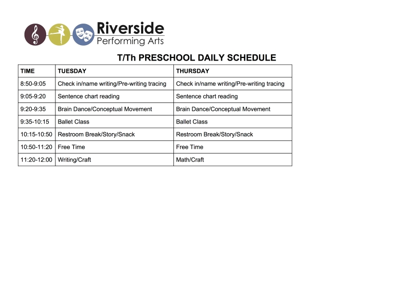 T:Th Daily Schedule copy